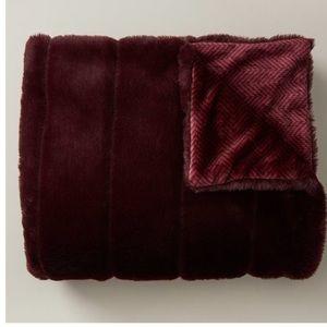 Faux fur burgundy throw boho luxe decor